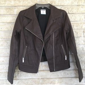 Jackets & Coats - OLD NAVY faux leather jacket cognac color size S